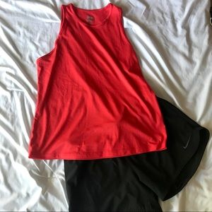 SALE!! Nike Dri Fit Red Orange Loose Fit Tank Top